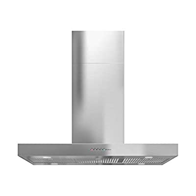 Futuro Futuro Positano 36 Inch Island-mount Kitchen Range Hood - Stainless Steel Modern Style from Italy - LED Ultra-Quiet with Blower