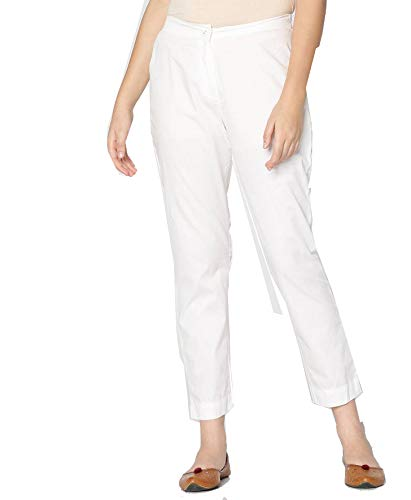 Buy Srishti By Fbb Ankle Length Cigarette Pants White At Amazon In