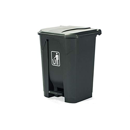 Kitchen Waste Bins 50L Heavy-Duty Trash Garbage with Foot Pedal Gray Lid Can Household Outdoor Trash Can Plastic Offices Garbage Recycling Perfect for Home Kitchen Office (Color : 2pcs, Size : 50L)