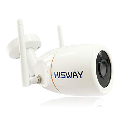 Hisway Outdoor Security Camera, 720P Wireless Surveillance Camera System with Night Vision, Motion Detection, Two Way Audio Talk WiFi Camera,IP66 Waterproof,Cloud Storage,72? Wide View