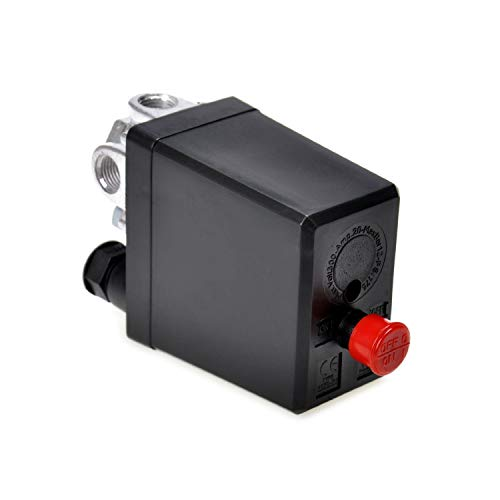 (NYKKOLA Air Compressor Pressure Switch Control Valve 90-120 PSi 240V)