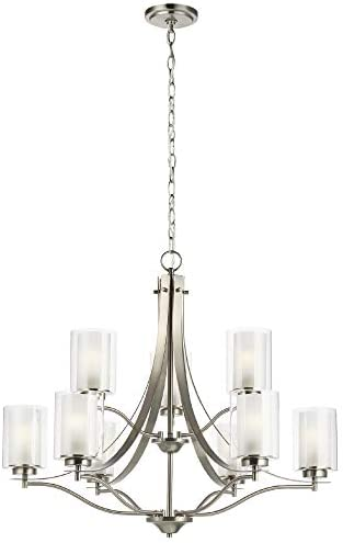 Sea Gull Lighting Generation 3137309-962 Transitional Nine Light Chandelier from Seagull-Elmwood Park Collection