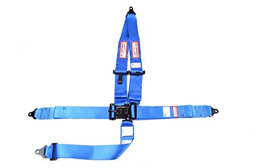 Racerdirect.net Racing Harness 3'' V Roll Bar Mount 5 Point Latch & Link Safety Race Harness Blue by Racerdirect (Image #8)