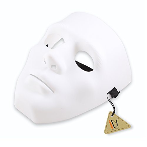 Halloween Costumes Jabbawockeez Mask (IDS Home White Hiphop Jabbawockeez Masquerade Mask Halloween Cosplay Costume Party)