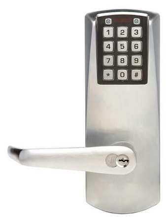 Electronic Lock, Satin Chrome, 12 Button