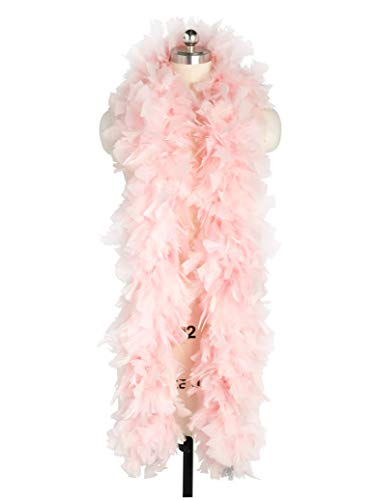 Zivyes 80inch Costume Feather Boas 1920s Flapper Accessories 150g Tea Party Dress up Costume Boa (Pink) ()