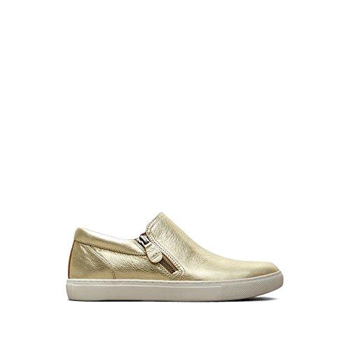Milda Själar Av Kenneth Cole Lowe Läder Sneaker - Kvinna Mjuk Guld
