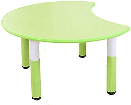 Conjunto de mesa y silla, mesa de media luna actividad portátil de ...