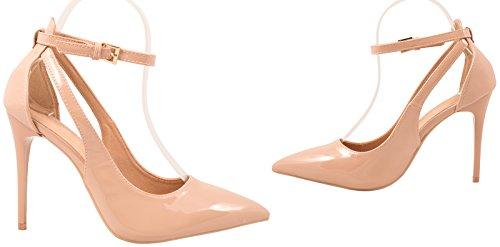Elara punta Pumps | moderne High Heels | Comodo di tacco alto, Beige (Beige), 41