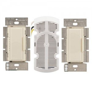 Lutron MA-FQ3-AL Fan Speed Control with Canopy Module Maestro 4.0A - Almond-2PK