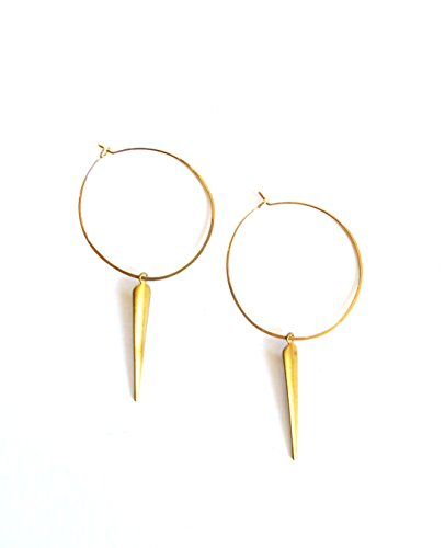 April Soderstrom Featherweight Small Spike Hoop Earrings, Gold