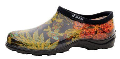 Sloggers  Women's Waterproof  Rain and Garden Shoe with Comfort Insole, Midsummer Black, Size 10,  Style 5102BK10 from Sloggers