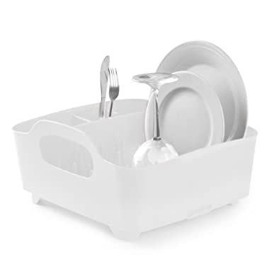 Umbra Tub Dish Drying Rack, White