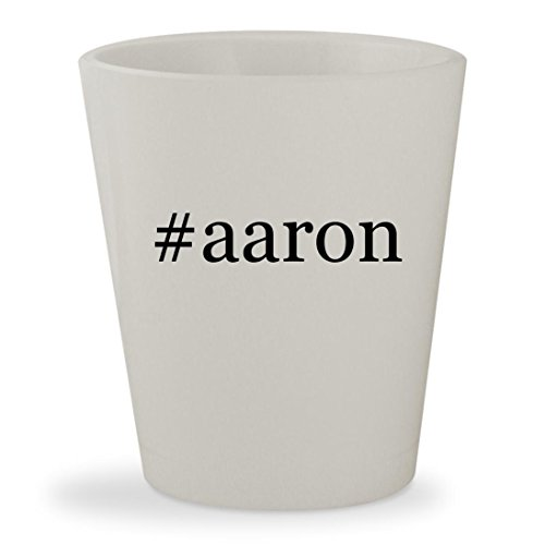 #aaron - White Hashtag Ceramic 1.5oz Shot Glass