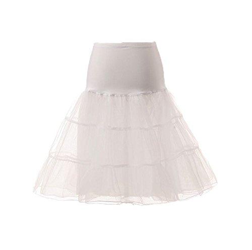 ESY Crinoline Underskirt Net Vintage Slip Tutu Petticoat White