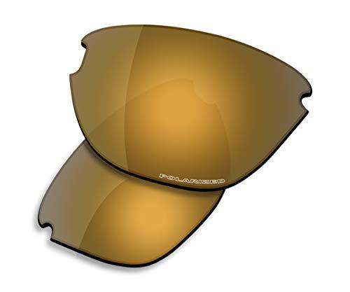 Saucer Premium Replacement Lenses for Oakley Frogskins Lite Sunglasses High Defense - Bronze Gold - Lens Lite Gold