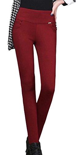 Rot Eleganti Di Fashion Grazioso Invernali Skinny Giovane High Termo Tempo Hot Matita Women Colori Solidi Pantaloni Libero Collant Leggins Waist Donna Addensare Autunno Elastico HzgvgPq