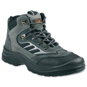 Sterling sécurité Vêtement sterling Chantier Chaussures de Sécurité/Entraînement Bottes Embout Coqué Acier et Semelle intercalaire Gris Taille 10 Ref SS605SM10