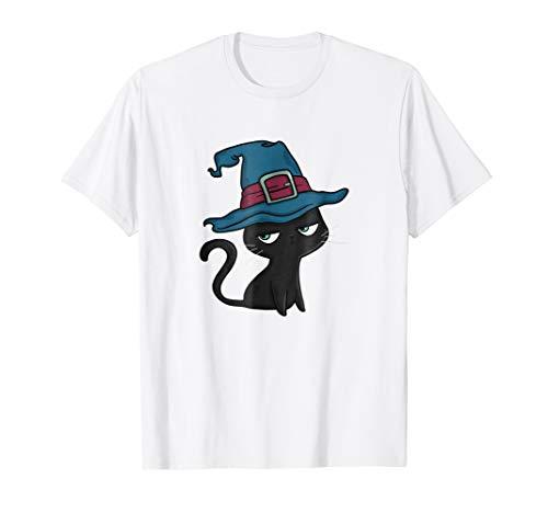 Black Cat Halloween T-Shirt - Halloween Costume