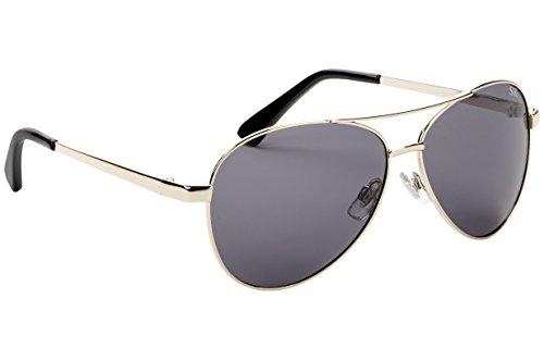 Strike King Plus Flyer Polarized Sunglasses, Gold Frame/Black Tips and Gray - Sunglasses King