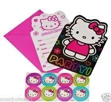 - Hello Kitty 'Neon Tween' Invitations w/ Envelopes (8ct)