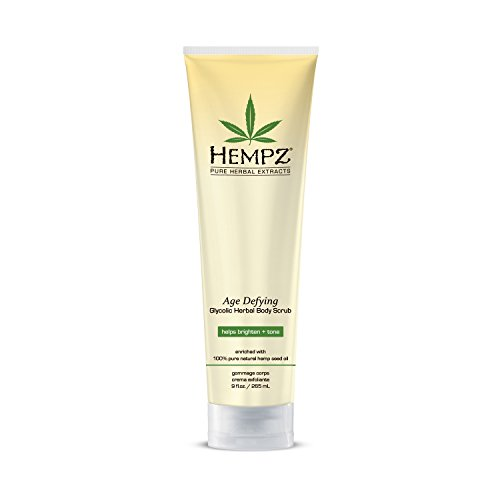 Hempz Age Defying Herbal Body Scrub, Off White, Vanilla/Musk, 9 Fluid Ounce