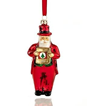 Macy's Yes Virginia 2012 Glass Santa Claus Christmas Ornament