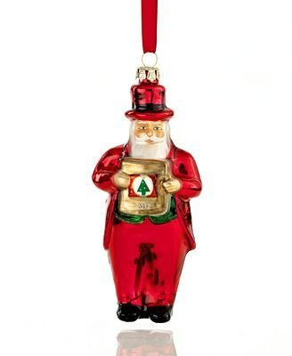 Macy's Yes Virginia 2012 Glass Santa Claus Christmas - New York In Macy