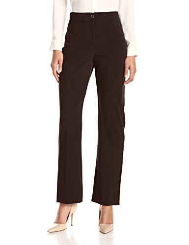 (Briggs New York Women's Bistretch Tummy Straight Leg Pant, Brown, 12)