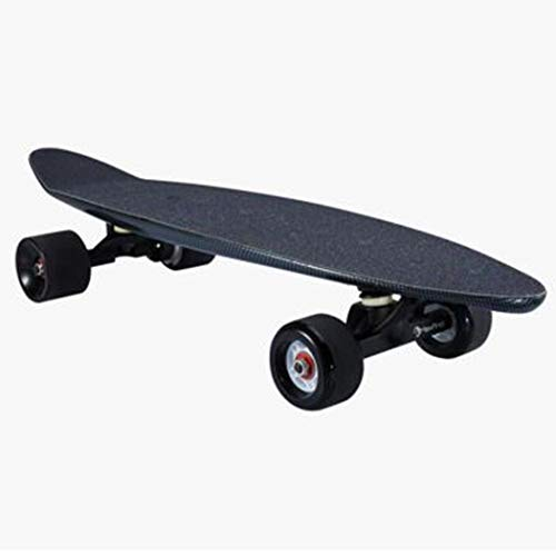 WUS Four-Wheel Electric Skateboard,Integrated Longboard,with Remote Control,Fiber Polymer Lithium Battery,Fiberglass Composite Deck,20Km/H,No Logo