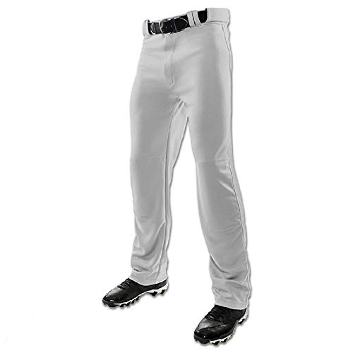 Champro Youth MVP Open Bottom Relaxed Fit Baseball Pant, Grey, Large