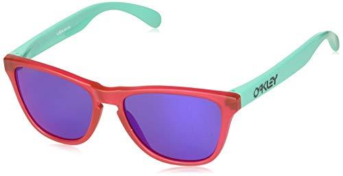 Oakley Youth Boys OJ9006 Frogskins XS Round Sunglasses, Matte Translucent Crystal Pink/Prizm Road, 53 ()