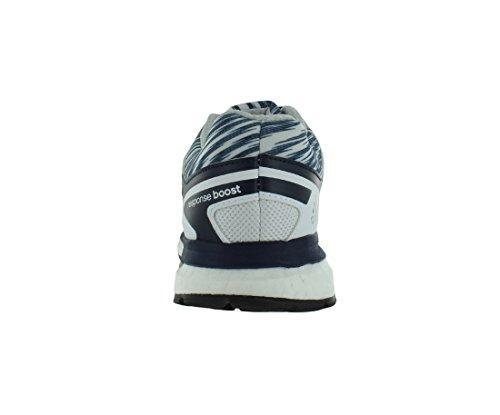 adidas - Zapatillas de running de Material Sintético para hombre - White-Silver-Navy