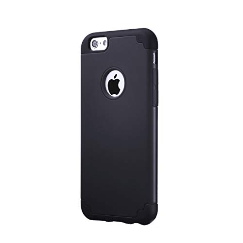 Ailun Phone Case for iPhone 6s iPhone 6 Soft Interior Silicone Bumper Hard Shell Solid PC Back Shock Absorption Skid Proof Anti Scratch Hybrid Dual Layer Slim Cover Black (Black Iphone 6 Case)