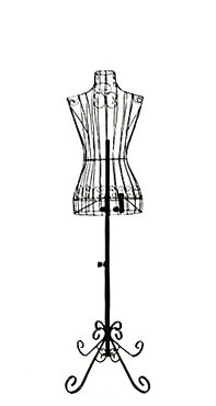 Dress Form Black - Female Black Steel Wire Mannequin Dress Form 32
