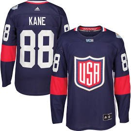 Men's USA Hockey Patrick Kane adidas Navy 2016 World Cup of Hockey Premier Player Jersey S