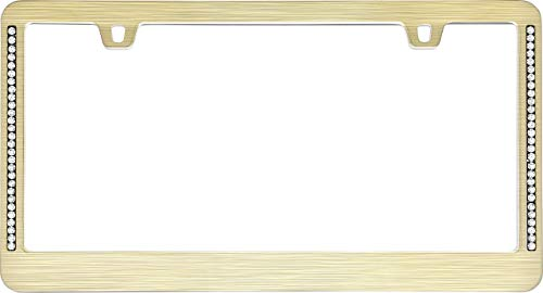 Cruiser Accessories 15001 Neo Diamondesque License Plate Frame, Gold (Certified Refurbished)