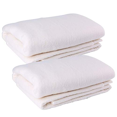 Tosnail 2 Pack 45-Inch x 60-Inch Soft Natural Cotton Batting for Quilts, Craft and Wearable Arts