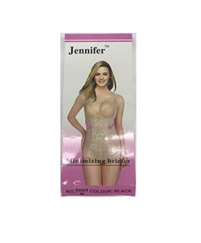 Jennifer Bodysuit Control Shapewear Waist Chincher Minimizing #65024 [Black - M]