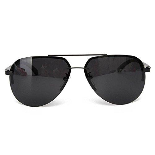 gafas Negro lente de conducción polarizadas libre Hombres al sol Gafas negro aire marco bureze de Deportes de afwP10