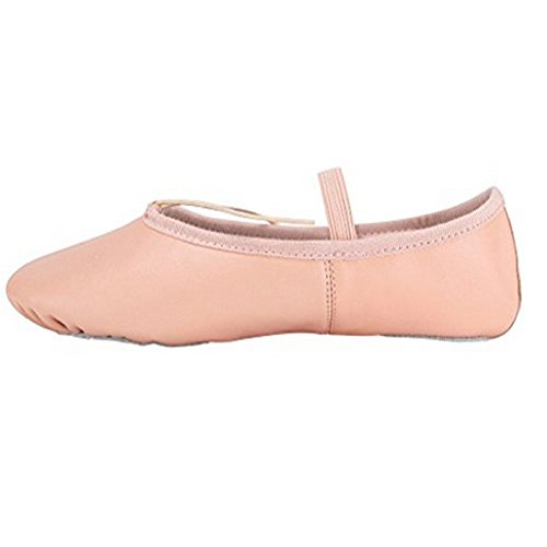 Ballet Shoes Girls Sole Women Adult For 5 UK Baysa Sizes Leather Pink 8 Split All 4xZIxTH