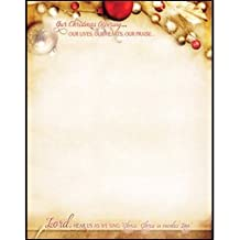 Warner Press 183661 Letterhead - Our Christmas - Pack of 100