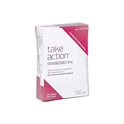 Take Action Emergency Contraceptive *Compare to Plan B* Levonorgestrel 1.5 mg 2 Pack = 2 Tablets (Best Contraceptive Pills To Avoid Pregnancy)