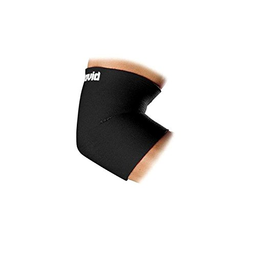 McDavid Classic Logo 481 CL Level 1 Elbow Support Sleeve - Black/Scarlet - Large