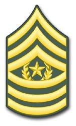 (US Army E-9 Command Sergeant Major Rank Insignia vinyl transfer decal sticker 3.8