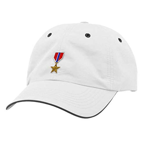 Accessories Cap Bronze (Speedy Pros Military Army Bronze Star Embroidery Richardson Water Repellent Cap Hat - White/Charcoal)