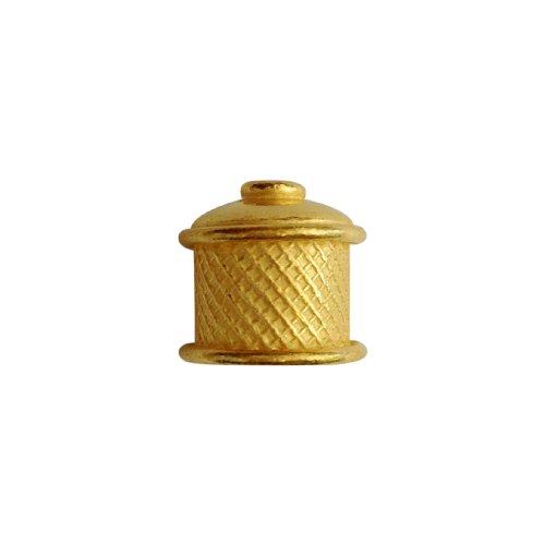 18K Gold Overlay End Cap CG-213 14X14MM