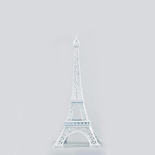 "15"" Tall Eiffel Tower Party Decor Centerpiece, High Detail, White"