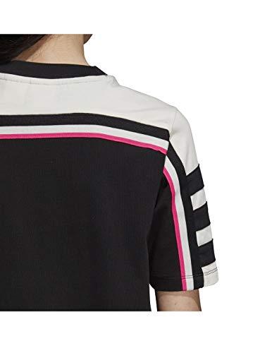 Damen Tee Shirt Schwarz adidas Kleid Dress p8OqwxwP