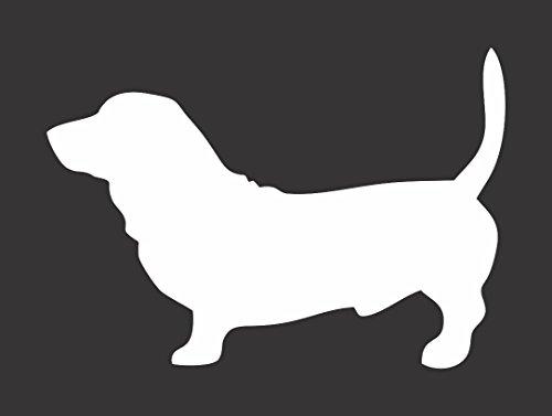 Barking Sand Designs Bassett Hound Dog Silhouette - Die Cut Vinyl Window Decal/Sticker for Car/Truck ()